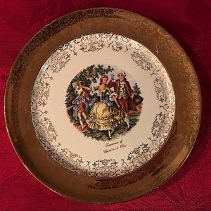 Ohio Souvenir Plate Sabin Crest-O-Gold 22 K Border